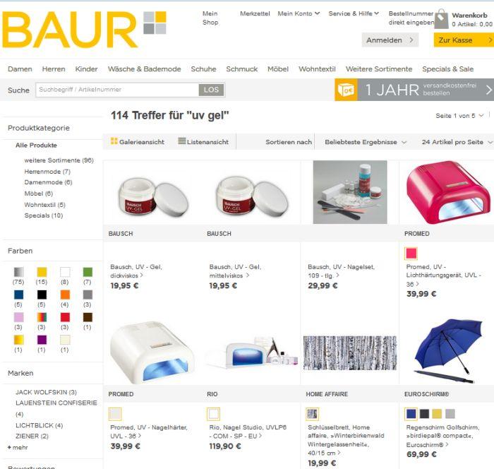 wo uv gel auf rechnung online kaufen bestellen