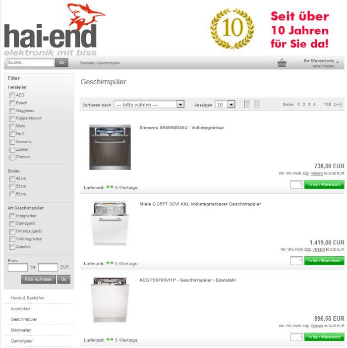 wo geschirrsp ler auf rechnung online kaufen bestellen. Black Bedroom Furniture Sets. Home Design Ideas