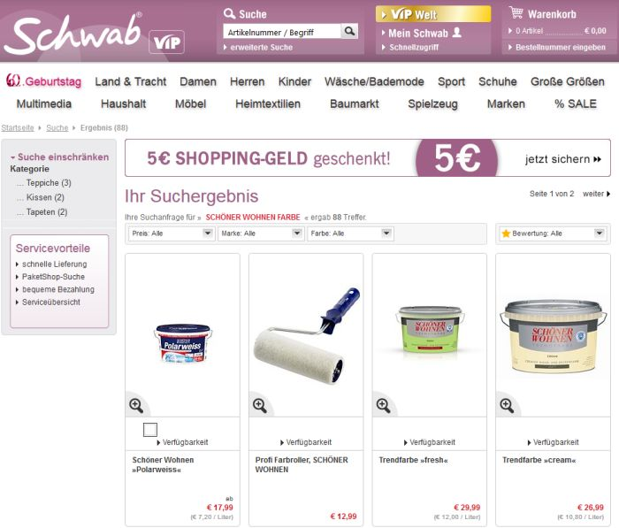 wo wandfarbe auf rechnung online kaufen bestellen. Black Bedroom Furniture Sets. Home Design Ideas
