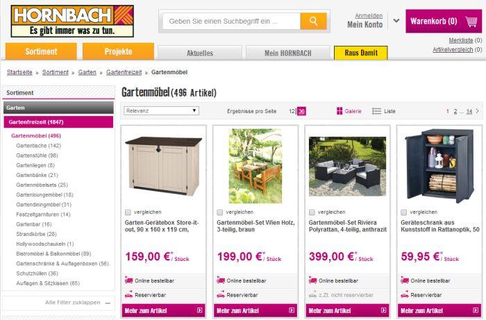 ▷ Wo Gartenmöbel auf Rechnung online kaufen & bestellen?