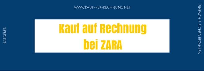 Zara Auf Rechnung : kauf auf rechnung bei zara ratgeber fakten details ~ Themetempest.com Abrechnung