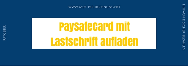 Paysafecard Mit Lastschrift