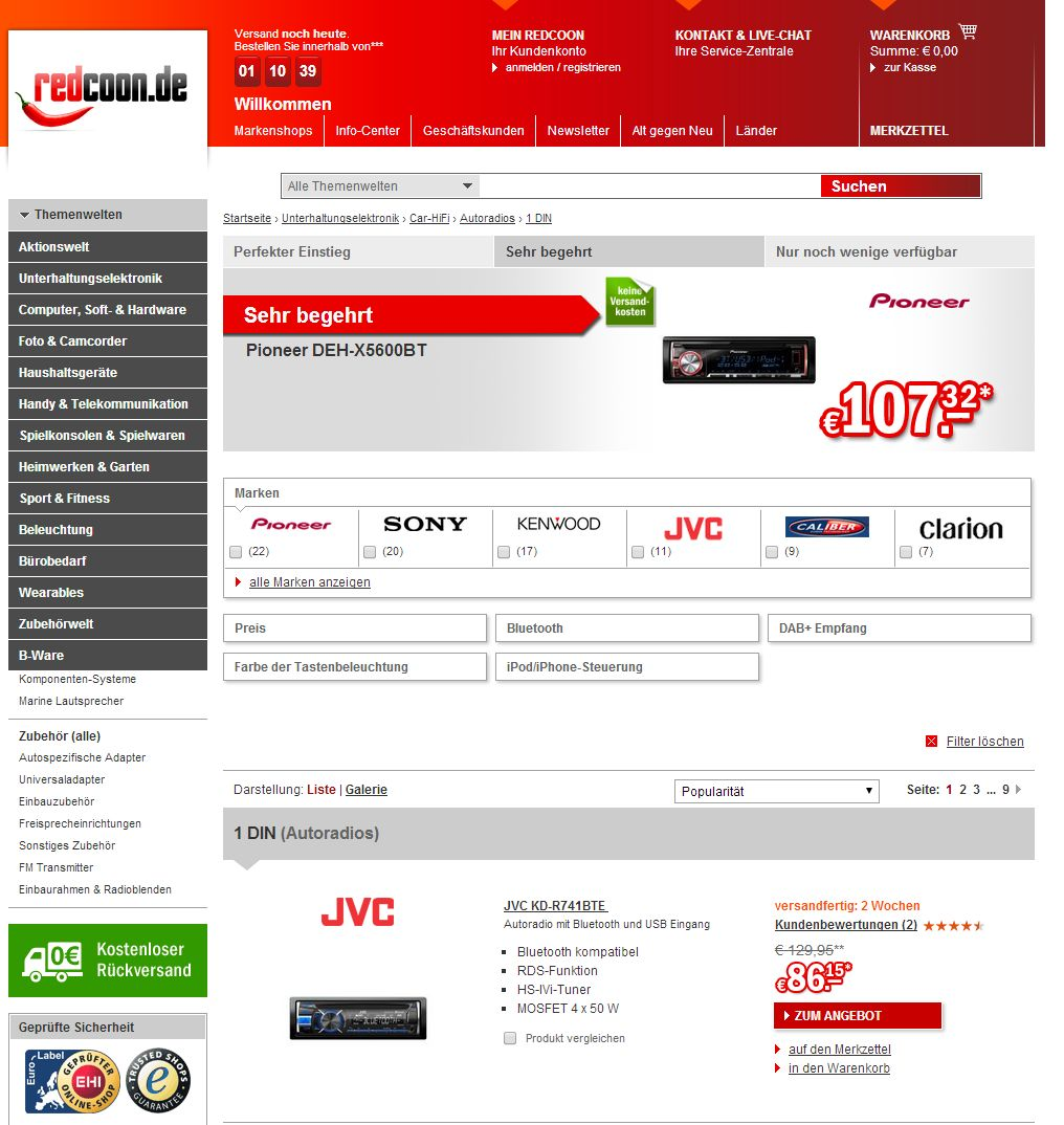 Wo Autoradio Auf Rechnung Online Kaufen Bestellen