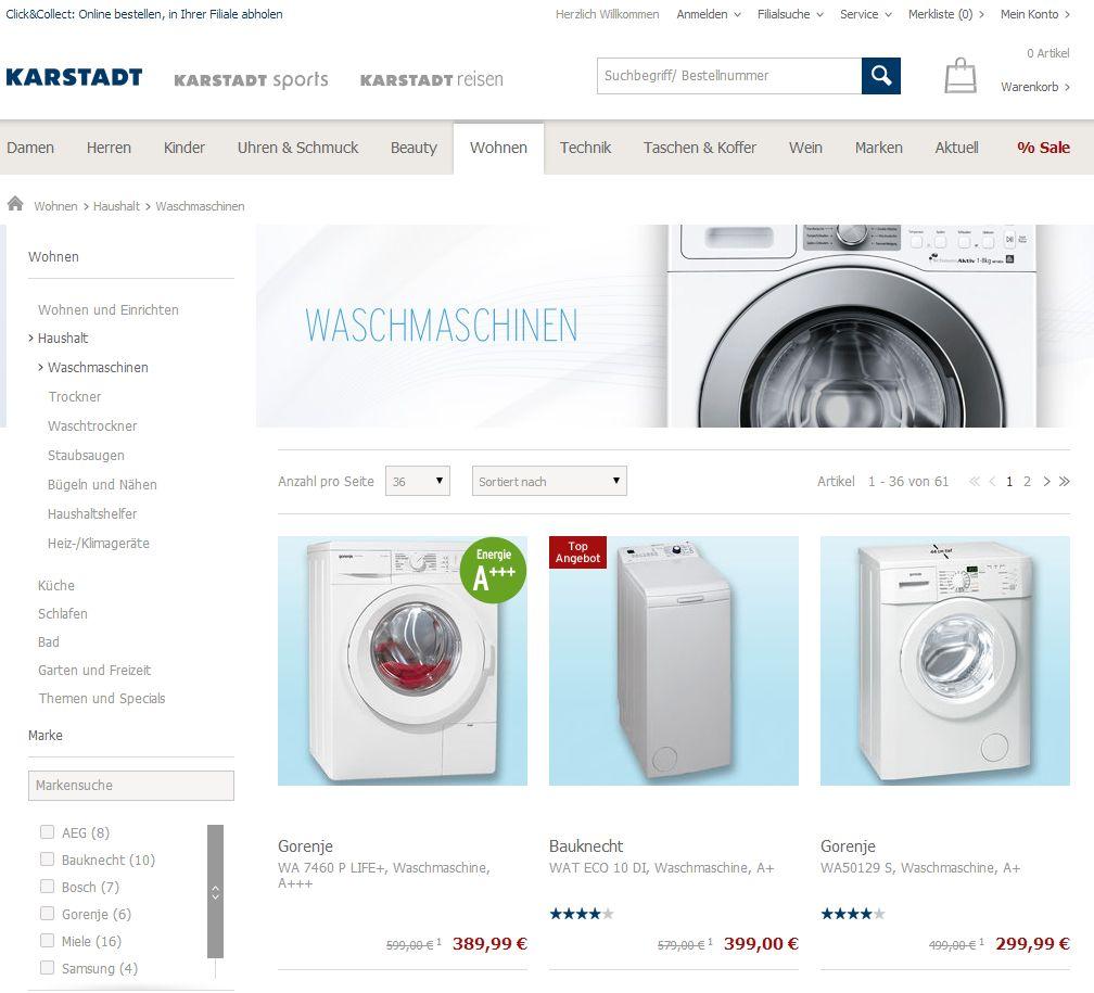 waschmaschine kaufen rechnung